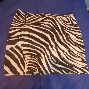 H&M Zebra Pattern Mini Skirt